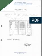 2018 Cert. Franchise Tax Payment