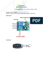 Manual de Uso Modulo Rele RF 2CH