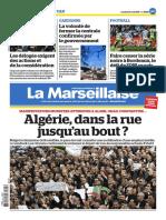 La Marseillaise du 5 avril 2019