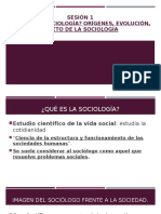 Sesion 1 Que Es La Sociologia Origenes Evolucion Obj e La Sociologia