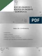 Manejo de Líquidos y Electrolitos en Paciente Quirúrgico Correcto!!