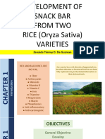 Development of Snack Bar from Different Rice Varieties
