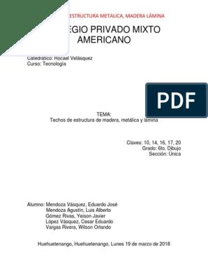 Trabajo Exposicion Grupo 4 Docx Acero Techo