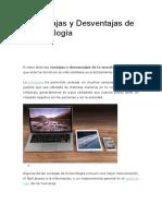 10 Ventajas y Desventajas de la Tecnología.docx