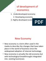 Stages of Development of Economics