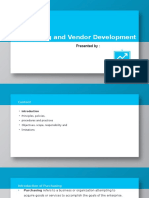 Purchasing and Vendor Development