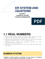 Chapter 1 - Number System and Equations