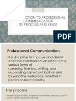 Introduction to Professional Communication Its Process and Kinds