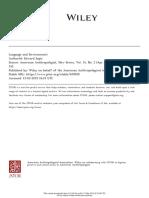Sapir, E. Language and environment.pdf