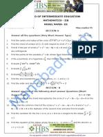 Inter II Year Maths- IIB Question Paper -III