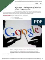 Manifiesto Google Ingenieros