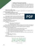 Arithmetic Expression Evaluation C++