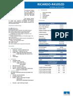 Ricardo R4105ZD-61kW Genset Spec Sheet