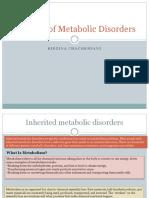 Genetics of Metabolic Disorders I