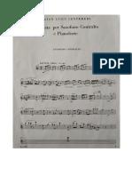 Centemeri Sonata Per Sax Contralto e Pianoforte