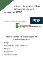 Apresentação Slide Gerador Eólico.ppsx