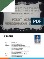 Presentasi Pilot Wire Tower Transmisi 150 kV Dengan Drone