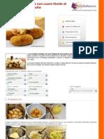 GZRic Crocchette Di Patate Con Cuore Filante Di Mozzarella e Prosciutto