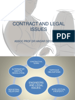 Contract and Legal Issues