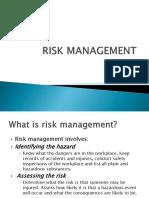 Risk Management-19 Oct