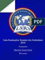 Mapa Proiect LSRS - Gala Studentilor Romani Din Strain at Ate 2010 Marriott