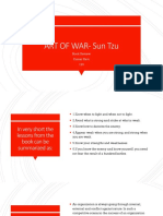 Art of war- Sun Tzu (management lessons)
