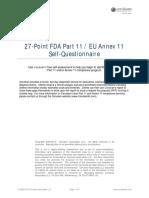 27-Point Part11-Annex11 Compliance Self-Assessment CERULEAN