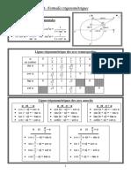 1- Formules trigonométriques
