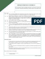 Carta Modelo - Formulario de Orientação de Reembolso