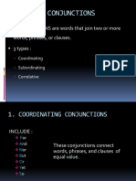 Conjunctions & Article