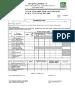 Contoh Rapot PTS K 13 Kelas 4