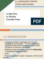 Introducing-sociolinguistics Kim Tram