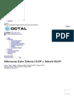 OCTAL-Preguntas Frecuentes-Diferencias Entre Tuberia LSAW (SAWL) y Tuberia SSAW