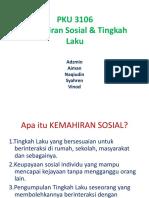 Kemahiran Sosial Dan Tingkah Laku