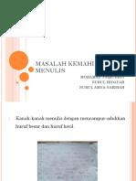 MASALAH KEMAHIRAN MENULIS