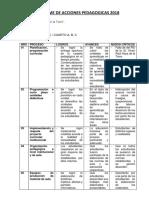 1. Informe de Acciones Pedagogicas 2017 y Informe de Tutoria