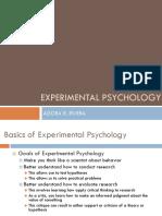 Experimental Psychology Adora