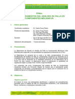 Sílabo AFA análisis de Falla