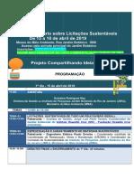 Programação Seminário Licitações Sustentáveis - 15 a 18 de abril de 2019