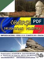 """Revista Simpozionului """"Obârșia Neamului nostru"""",  a II-a Ediție"""