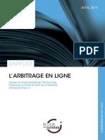 Rapport du Club des juristes sur l'arbitrage en ligne