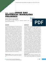 As Travessias Das Históricas Migrações Italianas