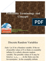 Probability Terminology and Concepts