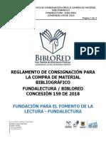 Reglamento Para La Consignación de Material Bibliográfico