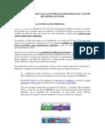 Instructivo Efectuar Notificaciones Personales a Través Del Microsoft Outlook