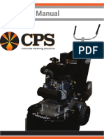 Concrete Polishing Solutions 320D Manual