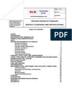 Project Standards and Specifications Design of Furnace Systems Rev01