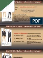 504b3afacf5 Informations Pratiques Live NBS 2019 Québec