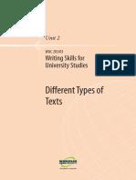 Writing Skills for Uni Studies U2