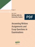 Writing Skills for Uni Studies U5